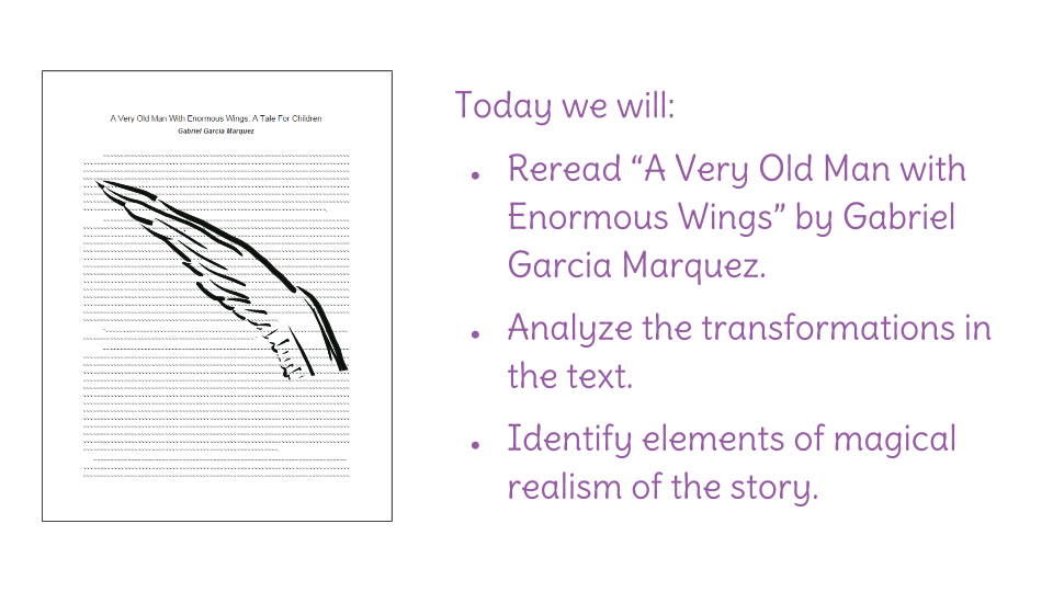 a very old man with enormous wings symbolism essays Obviously, a very old man with enormous wings has the deepest meaning  marquez showed the sad reality of the human civilization.