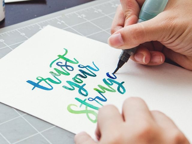 Brush Lettering with Watercolor | Every Tuesday