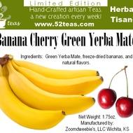 Banana Cherry Green Yerba Mate from 52teas