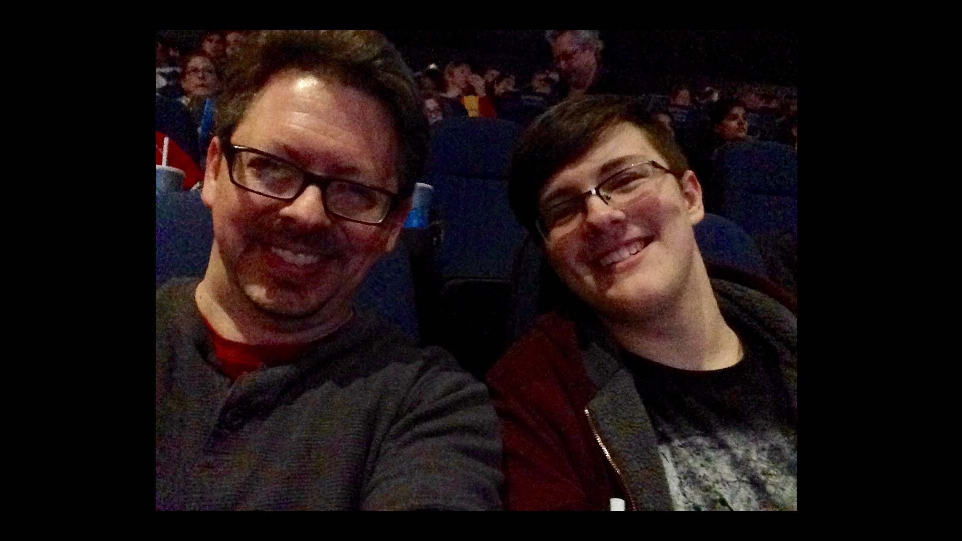 Me and son at Star Wars: The Force Awakens