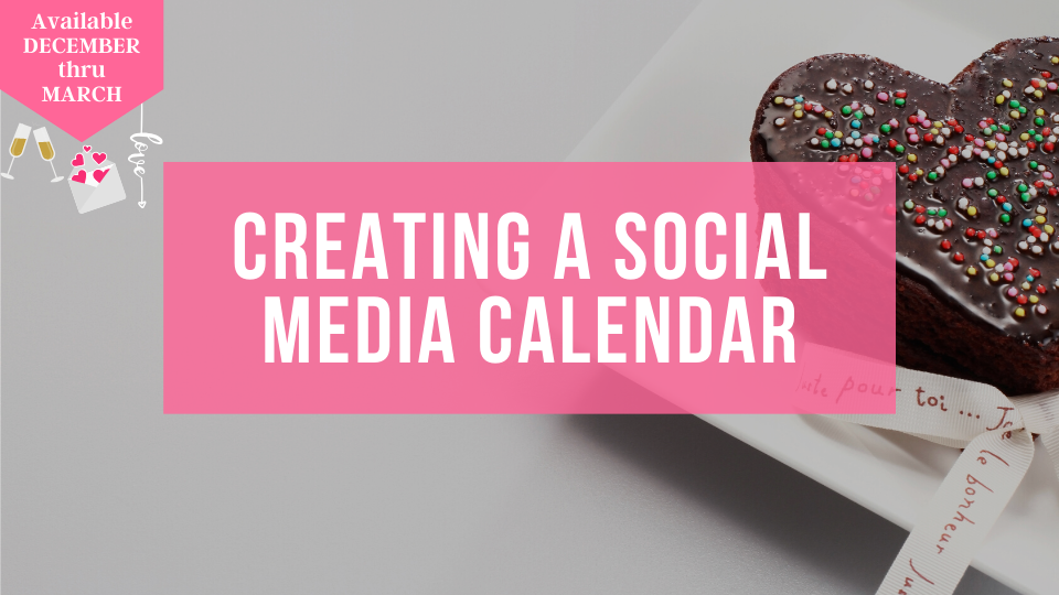 Learn how to plan out your social media content on a monthly basis with the Sugar Coin Academy, Business trainings for Bakers.