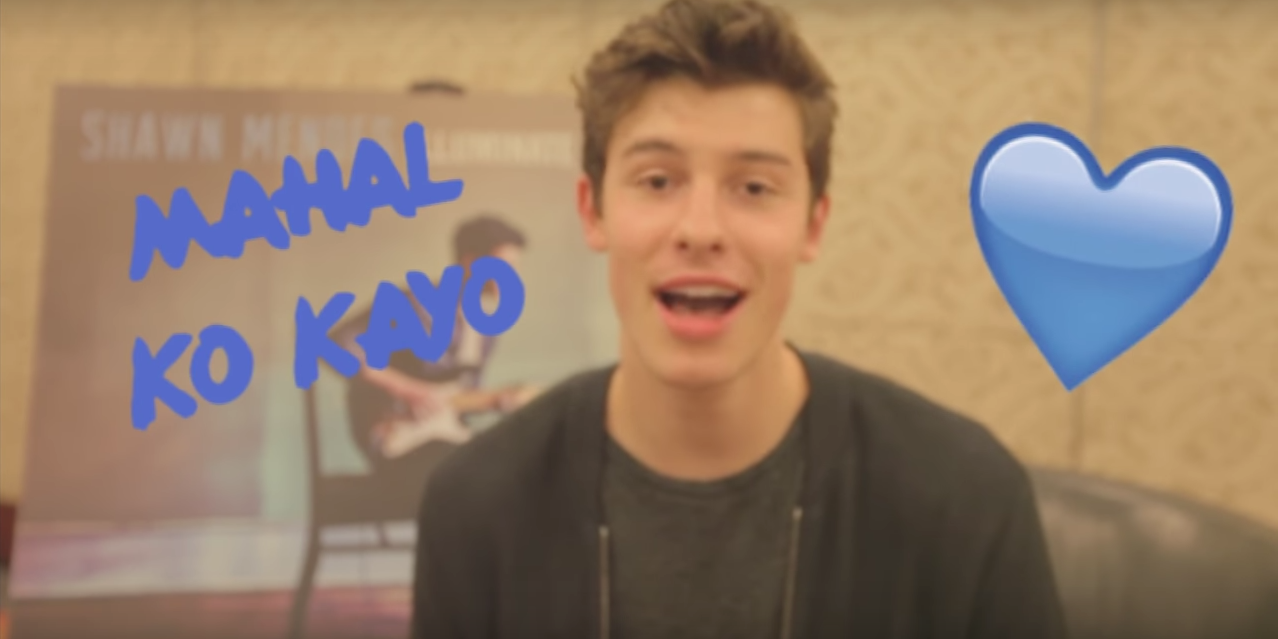 Watch Shawn Mendes speak Filipino slang with Universal Music
