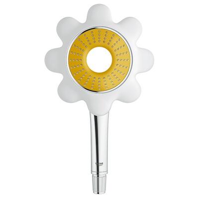 Icon Flower hånddusj, Hvit/gul