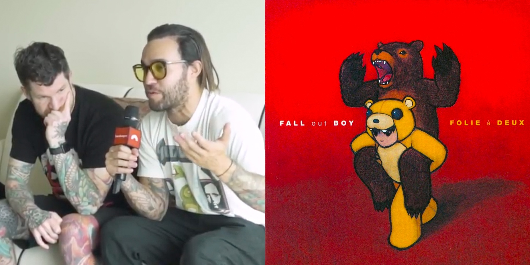 Pete and Andy of Fall Out Boy discuss their album Folie à Deux, which turns 10 this year –watch