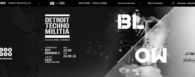 BLOW 02: T.Linder & DJ Seoul (Detroit Techno Militia)
