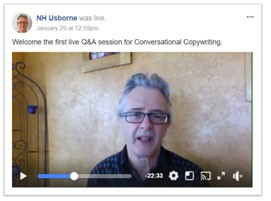 Conversational copywriting livestream Q&A