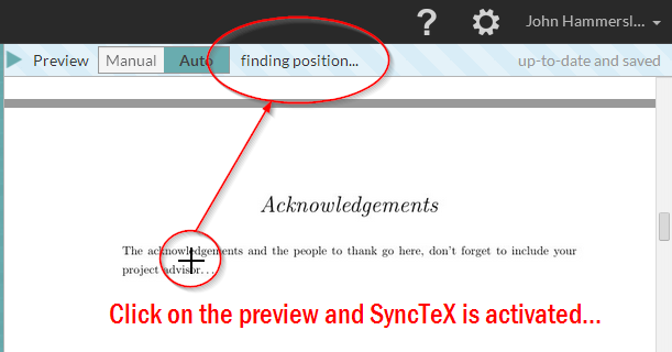 WriteLaTeX SyncTeX demo screenshot 0