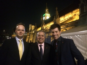 MIM's Charles Addison, Andy Moore and Jason Pitt set up the Westminster visit