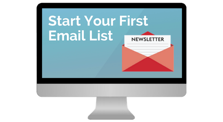 start an email list with Launch Your Blog Course