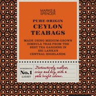 Fairtrade pure origin Ceylon teabags from Marks & Spencer Tea