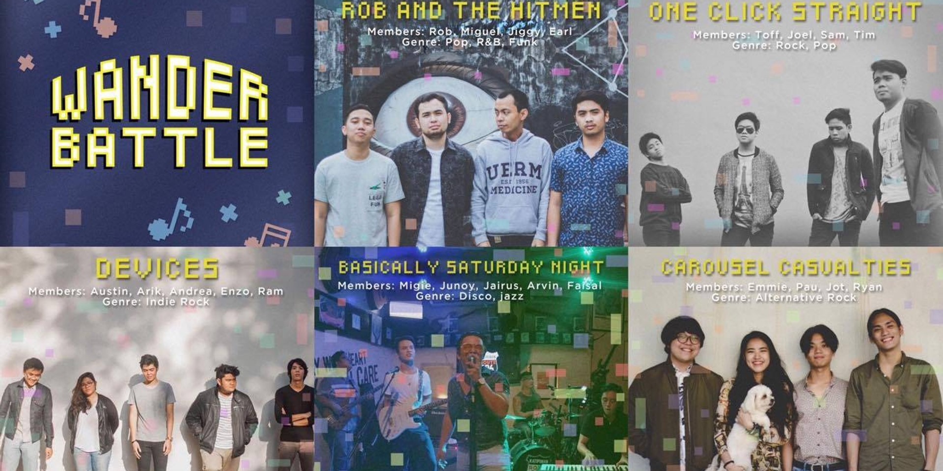 5 bands to battle it out for the title of Wanderband 2018