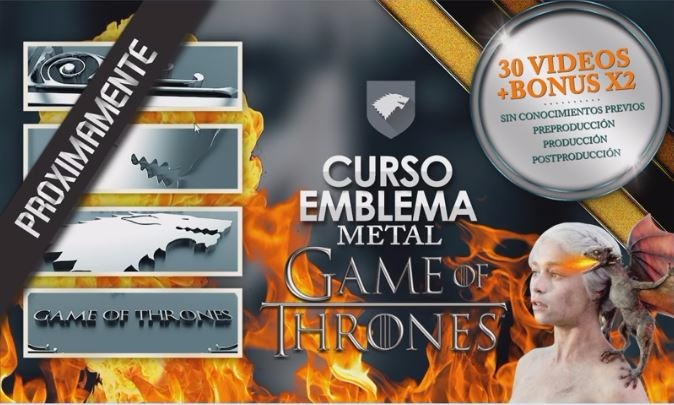 Poster final Game of Thrones emblemas 3D Juego de Tronos