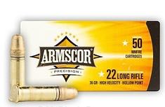 Armscor ARMSCOR 22 LR - 36 Grain HP - Armscor - 50 Rounds