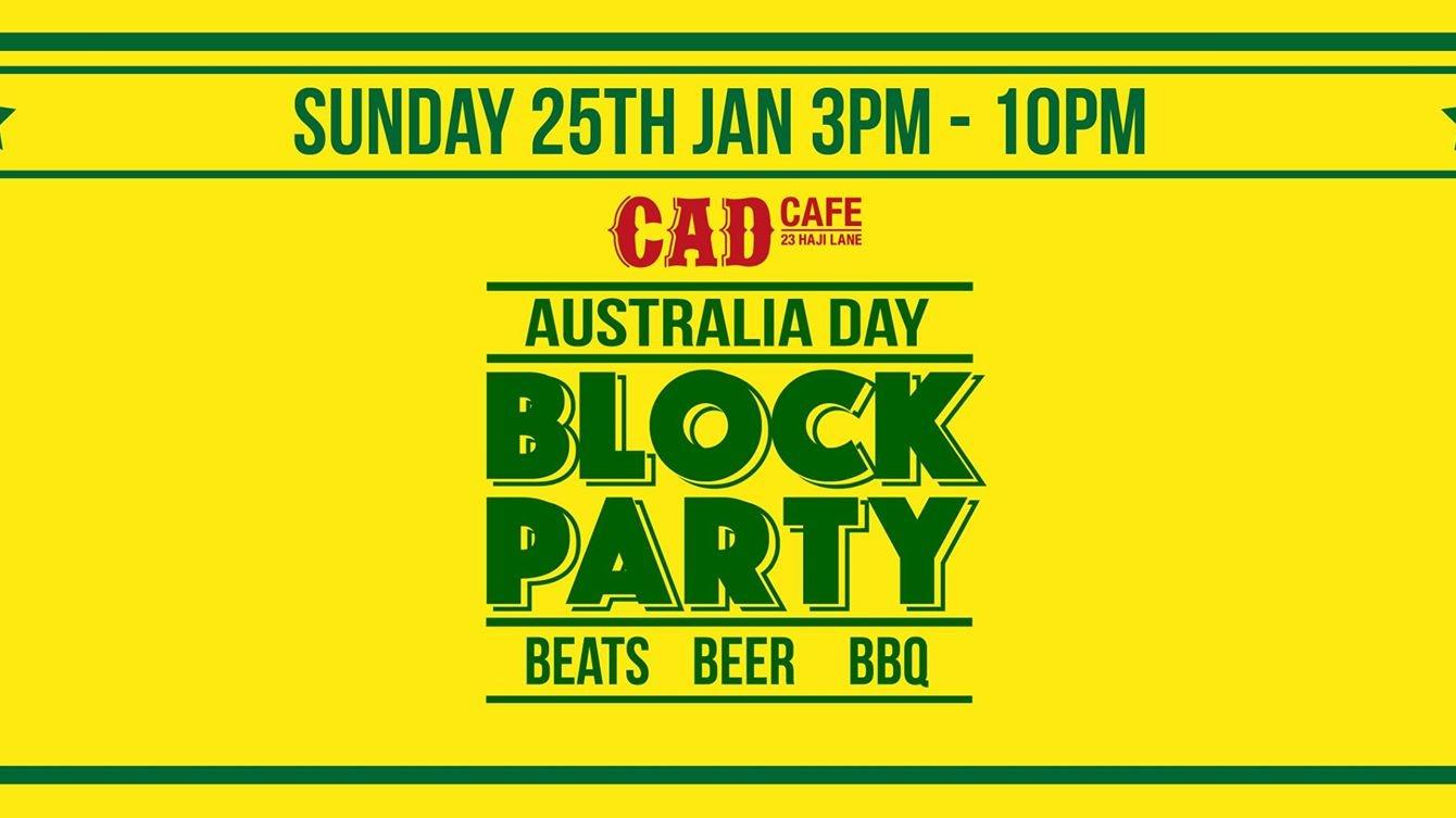 CAD AUSTRALIA DAY BLOCK PARTY