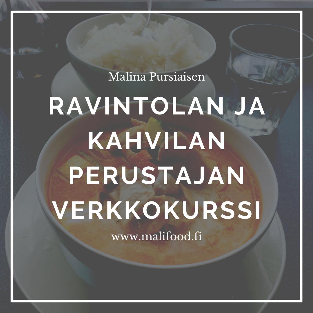 Ravintolan ja kahvilan perustajan verkkokurssi