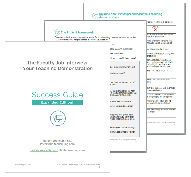Preparing for your teaching demonstration success guide