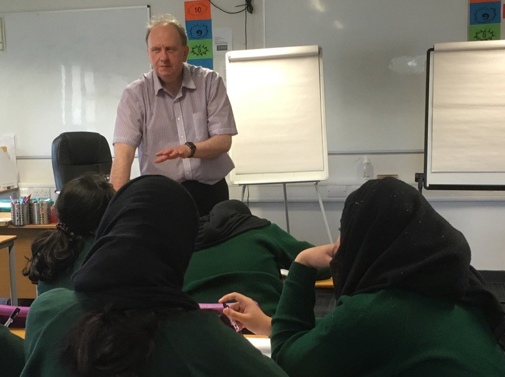 William Gallagher running a school writing course