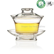 Traditional Gongfu Tea Clear Glass Gaiwan 150ml FH-333 from Dragon Tea House