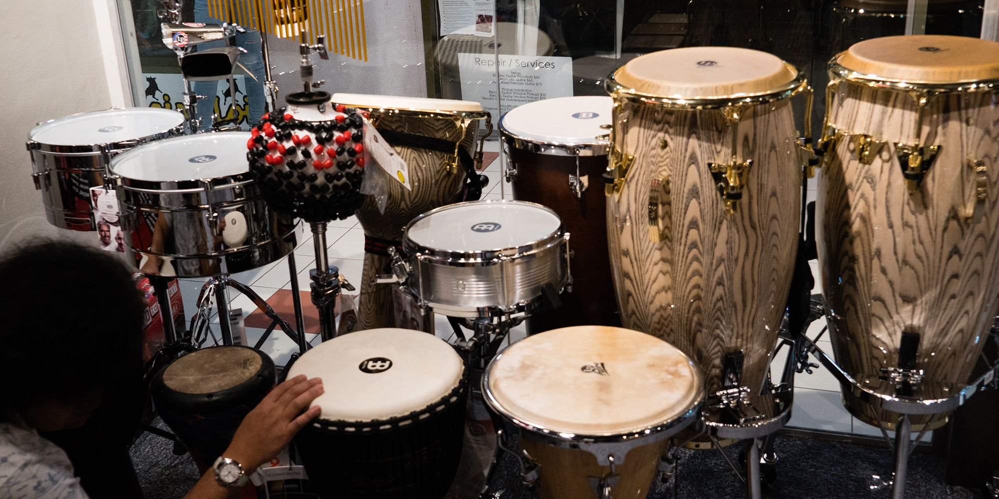 Here's a look at Swee Lee's first dedicated drum store in Singapore