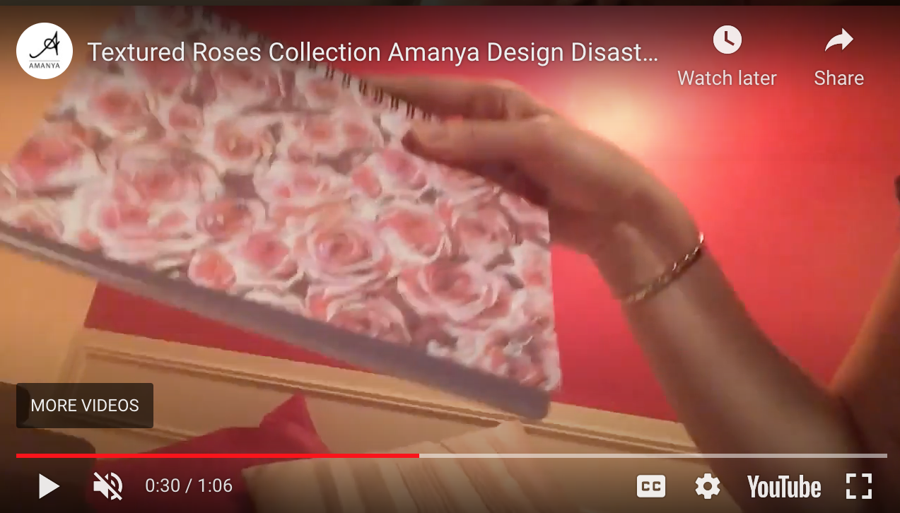 Textured Roses Collection Amanya Design Disastrous Live