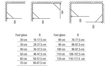 Glassfelt, rett 60x193