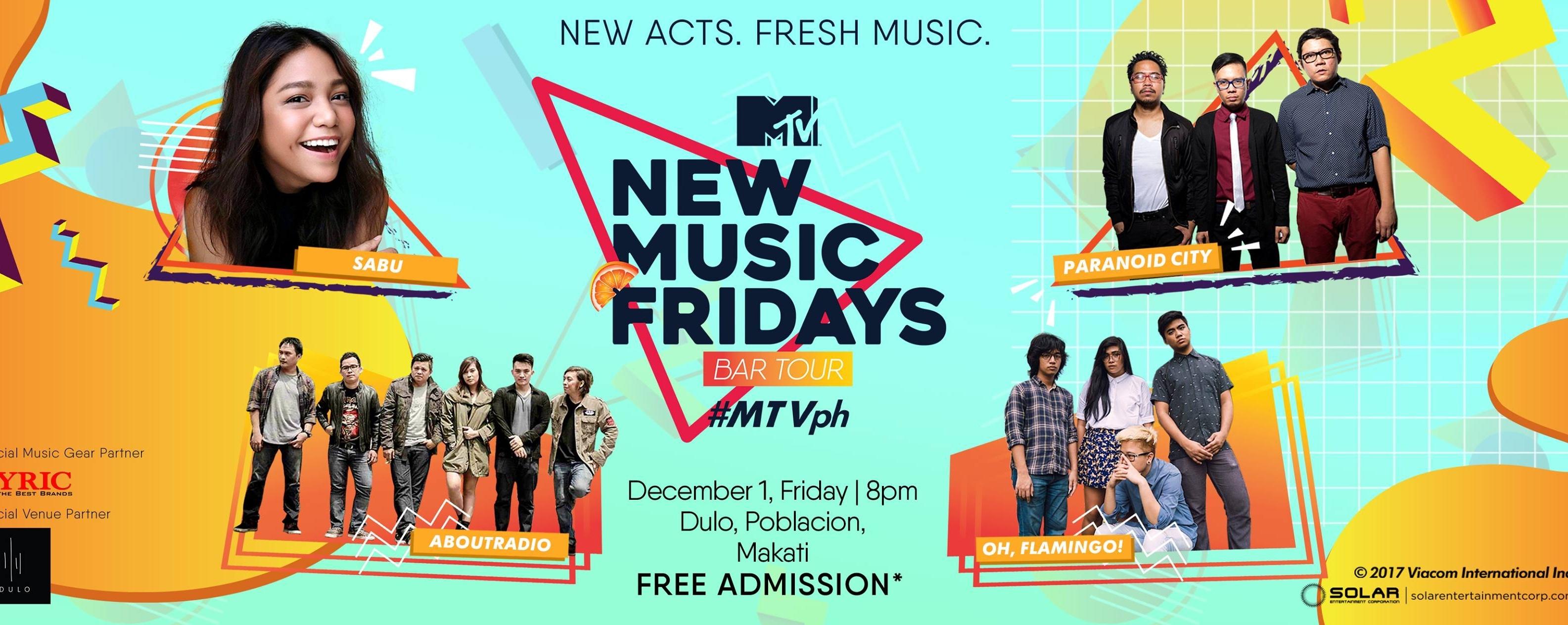 MTV New Music Fridays Bar Tour