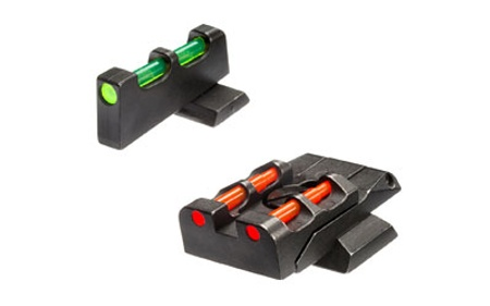hiviz m p front and rear sight swmpe21 red dot shooting inc