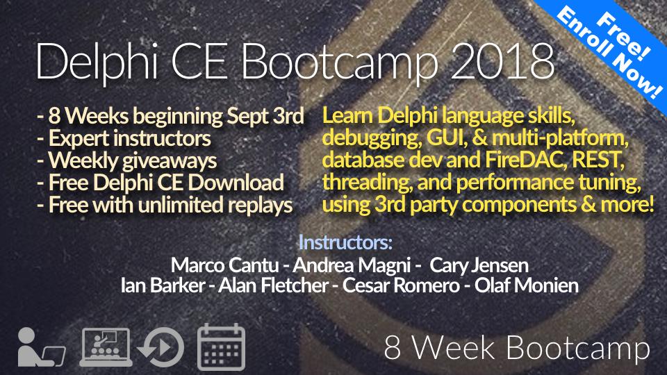 The Delphi CE Bootcamp 2018 | Embarcadero Academy
