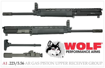 Wolf A1 T91 223/5 56 AR-15 COMPLETE GAS PISTON UPPER RECEIVER | Stop