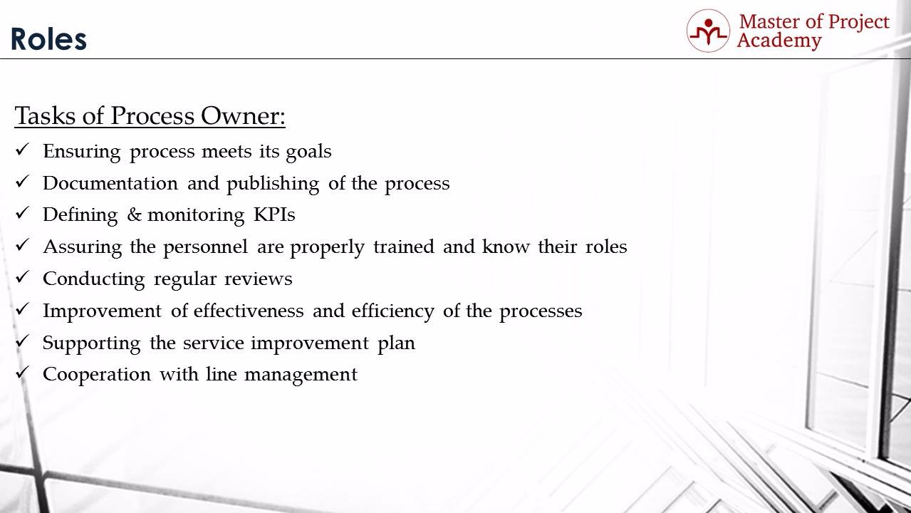 The Process Owner In The Itil Process What Is The Itil Process