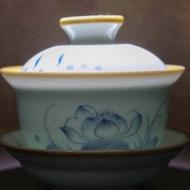Jingdezhen Tall Natural Edge Fish Gaiwan from Verdant Tea