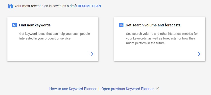 How to Use the Google Keyword Planner Tool