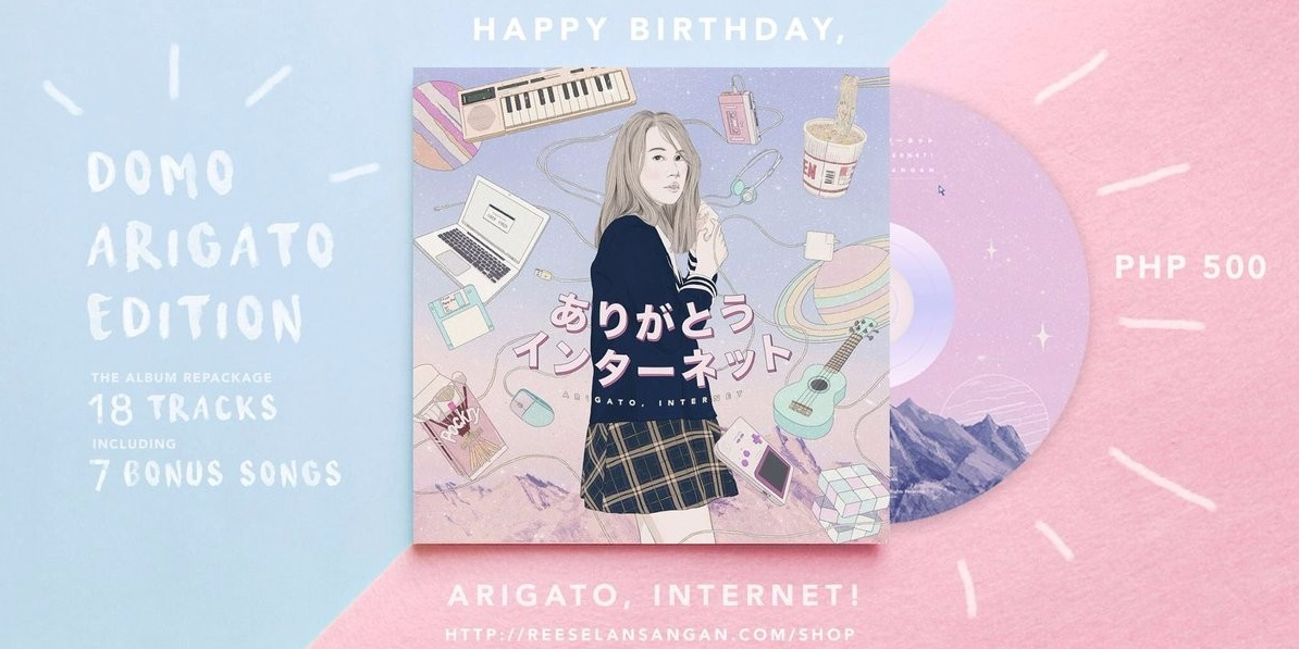 "Reese Lansangan announces ""Arigato, Internet!"" reissue, plus a new line of merchandise"