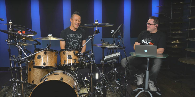 Watch Brandon Khoo teach drummers around the world on online platform Drumeo