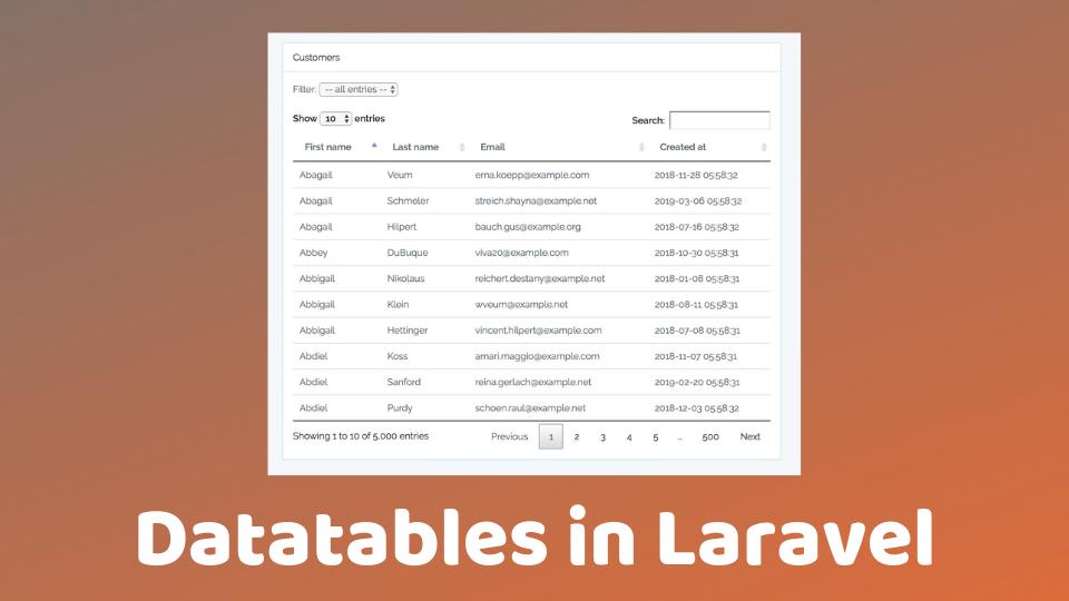 Datatables in Laravel | Laravel Daily