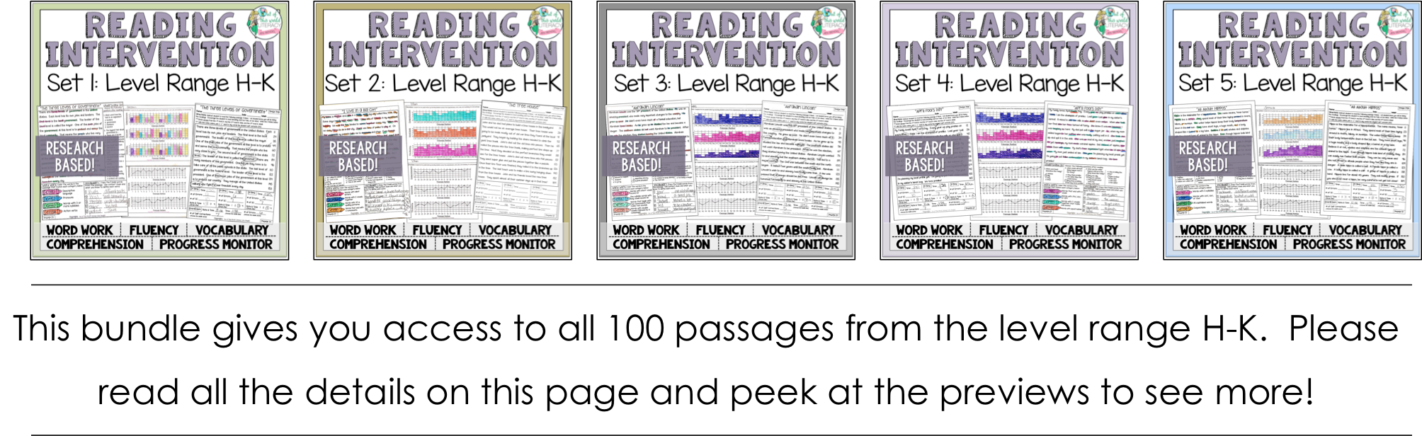 Reading intervention program sets h k jen bengel each passage is not individually leveled however they range from fountas and pinnell levels h k nvjuhfo Image collections
