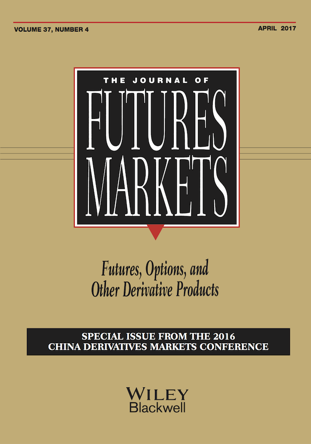 Template for submissions to Journal of Futures Markets