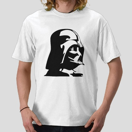 Anakin Skywalker darth vader Star wars saga character helmet white t-shirt