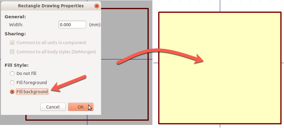 Figure 11: Fill the rectangle background
