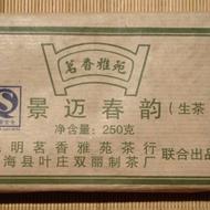 2008 Hai Lang Hao * Jing Mai Mountain Raw tea brick * 250 grams from Yunnan Sourcing