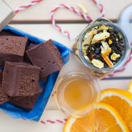 Organic Choc Orange Fudge from The Rabbit Hole Organic Tea Bar