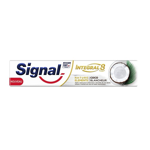 Dentifrice Signal Integral 8 Nature Elements Coco Blancheur