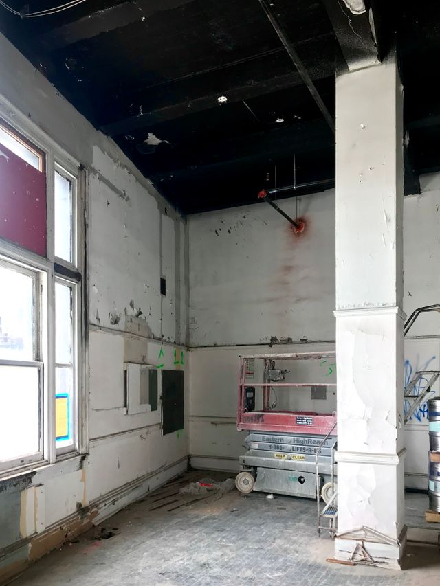 image: Section of install space