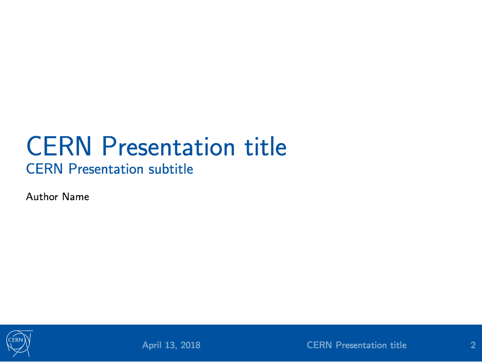 cern presentation - latex template on overleaf, Presentation In Latex Template, Presentation templates