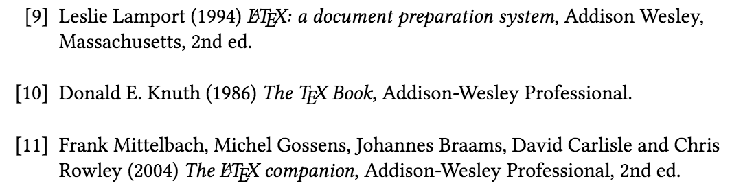 thebibliography with a longer label width