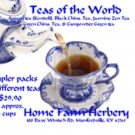 Caffeine Lovers Teas of the World 5 pack sampler from Home Farm Herbery
