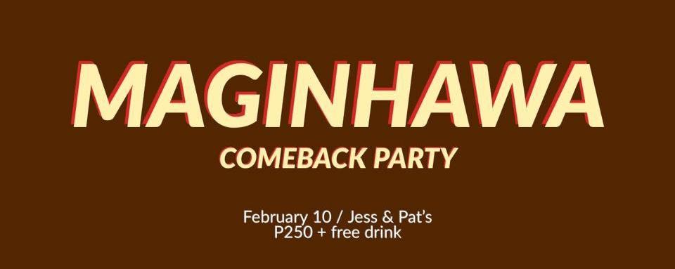 Maginhawa: Jess & Pat's Comeback Party