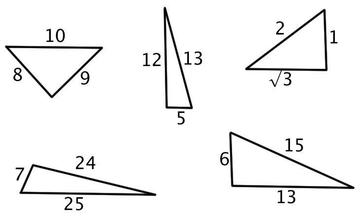 Converse Of Pythagorean Theorem Problems