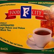 Decaf Orange Pekoe & pekoe cut black tea from Food City