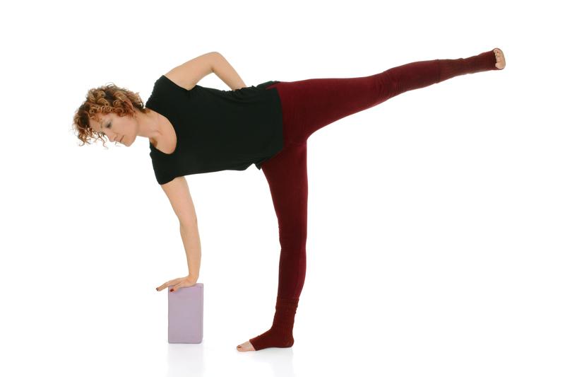 Half Moon Yoga Pose with Block